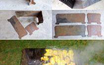 Как своими собственными руками сделать складной мангал?