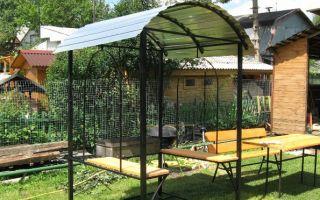 Фото металлических мангалов с крышей сделанных своими руками