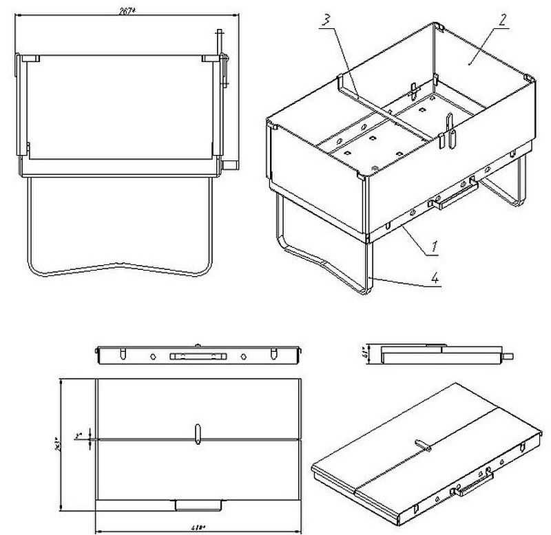 Мангал чемодан своими руками чертежи и фото пошаговая инструкция