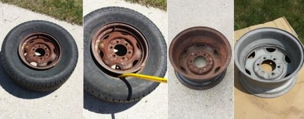 Достаем диск из колеса