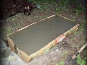 Залили бетон до верха опалубки