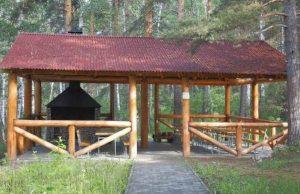 Фото зоны с мангалом на даче