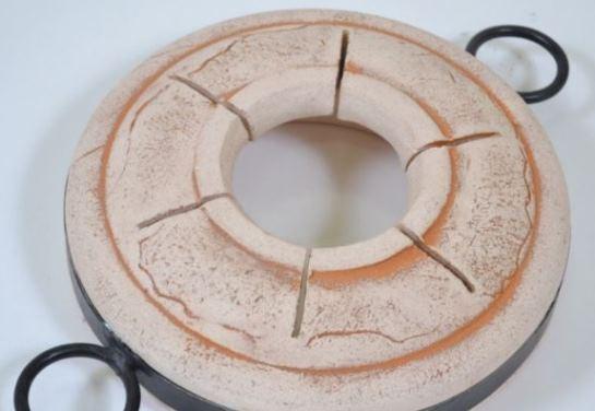 Готовое кольцо с прорезями для шампуров