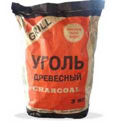 Шашлычный уголь фасованный в мешке