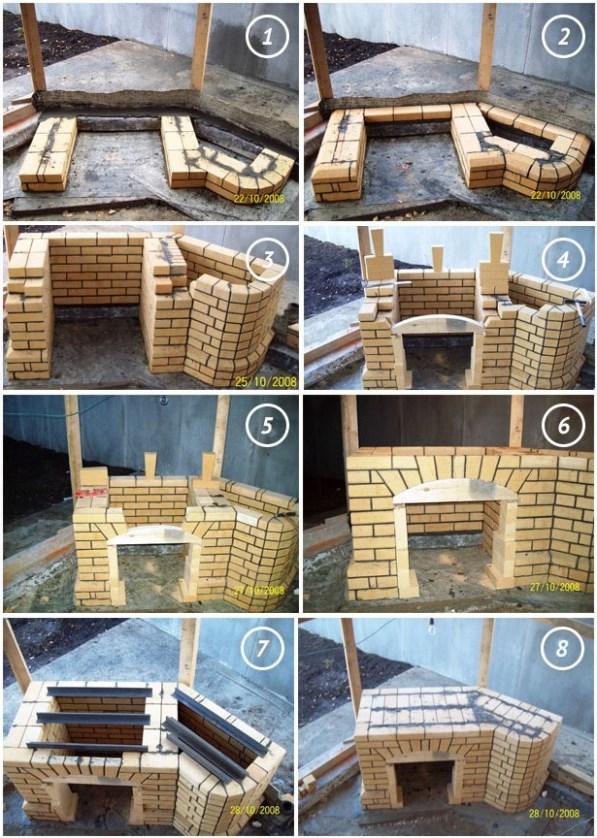 Схема постройки кирпичного барбекю