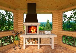 Как построить барбекю из кирпича своими руками