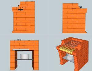 изображение конструкции с разных сторон