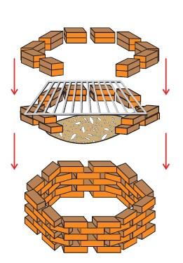 схема временного мангала